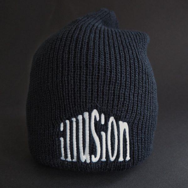 Zimowa czapka Illusion (czarno-biała)