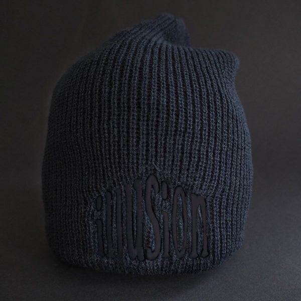 Zimowa czapka Illusion (czarno-czarna)