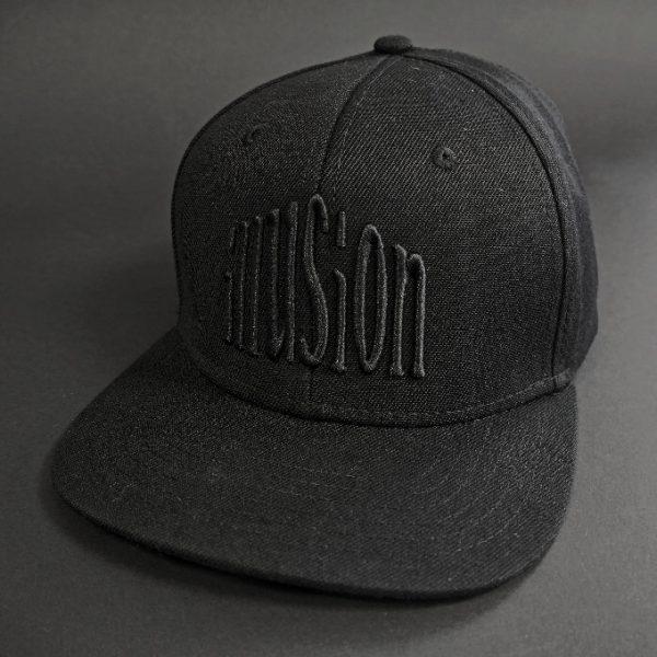 Czapka Illusion snapback (czarno-czarna)