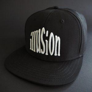 Czapka Illusion snapback (czarno-biała)