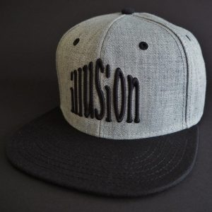 Czapka Illusion snapback (szaro-czarna)